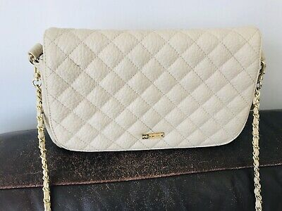 marc b quilted cream chain bag