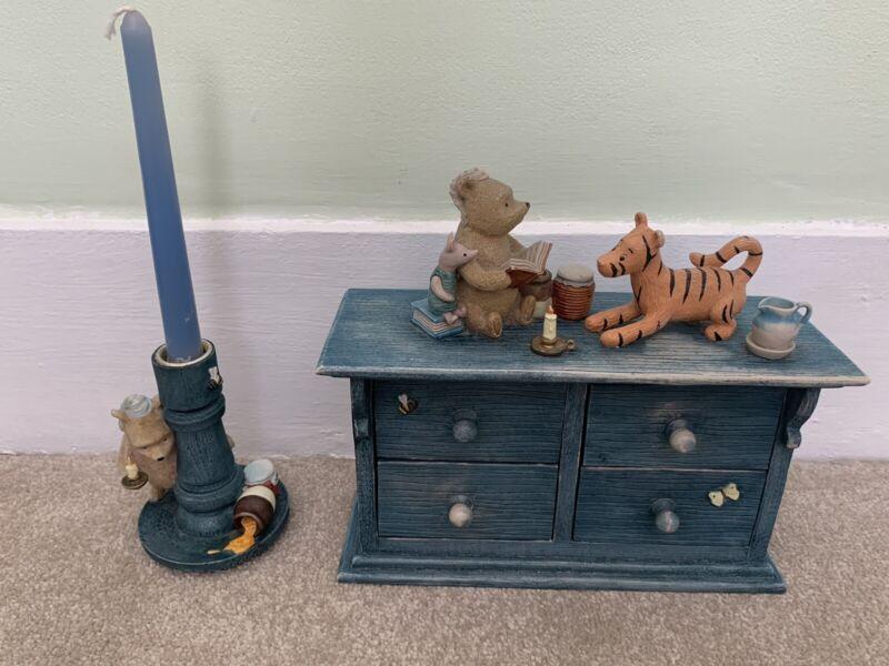 Winnie the Pooh Classic 4 Drawer Trinket Holder + Candle Holder Border Fine Arts