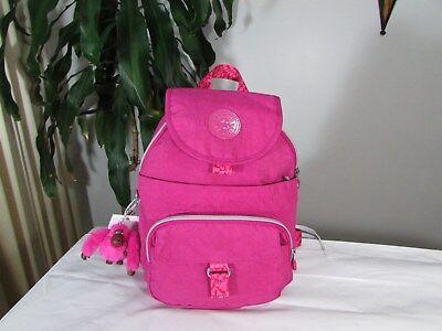 NWT Kipling Nylon Queenie Very Berry Backpack Pink