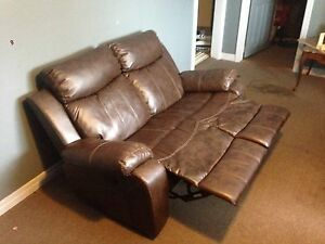 Brown Recliner Couch Set