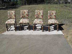 TIMBER AND  CABBAGE  ROSE  TAPESTERY  CHAIRS Richmond Hawkesbury Area Preview