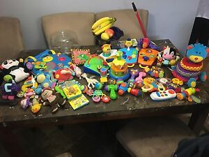 Assortment of baby toys