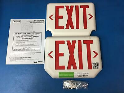 Hubbell Lighting Dual-Lite Combination LED Exit Emergency Light EVCURWDI-0-WM