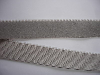 10m Gummiband 0,30€/m grau Mäusezähnchen 17mm breit ED3
