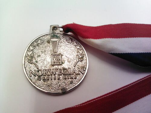 Vtg Norwegian Cruise Line Olympics Medallion NCL  Cruise Ship Souvenir