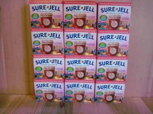 Sure Jell LESS SUGAR Premium Fruit Pectin 1.75 oz Per Box Lot of 30 Exp OCT 2022