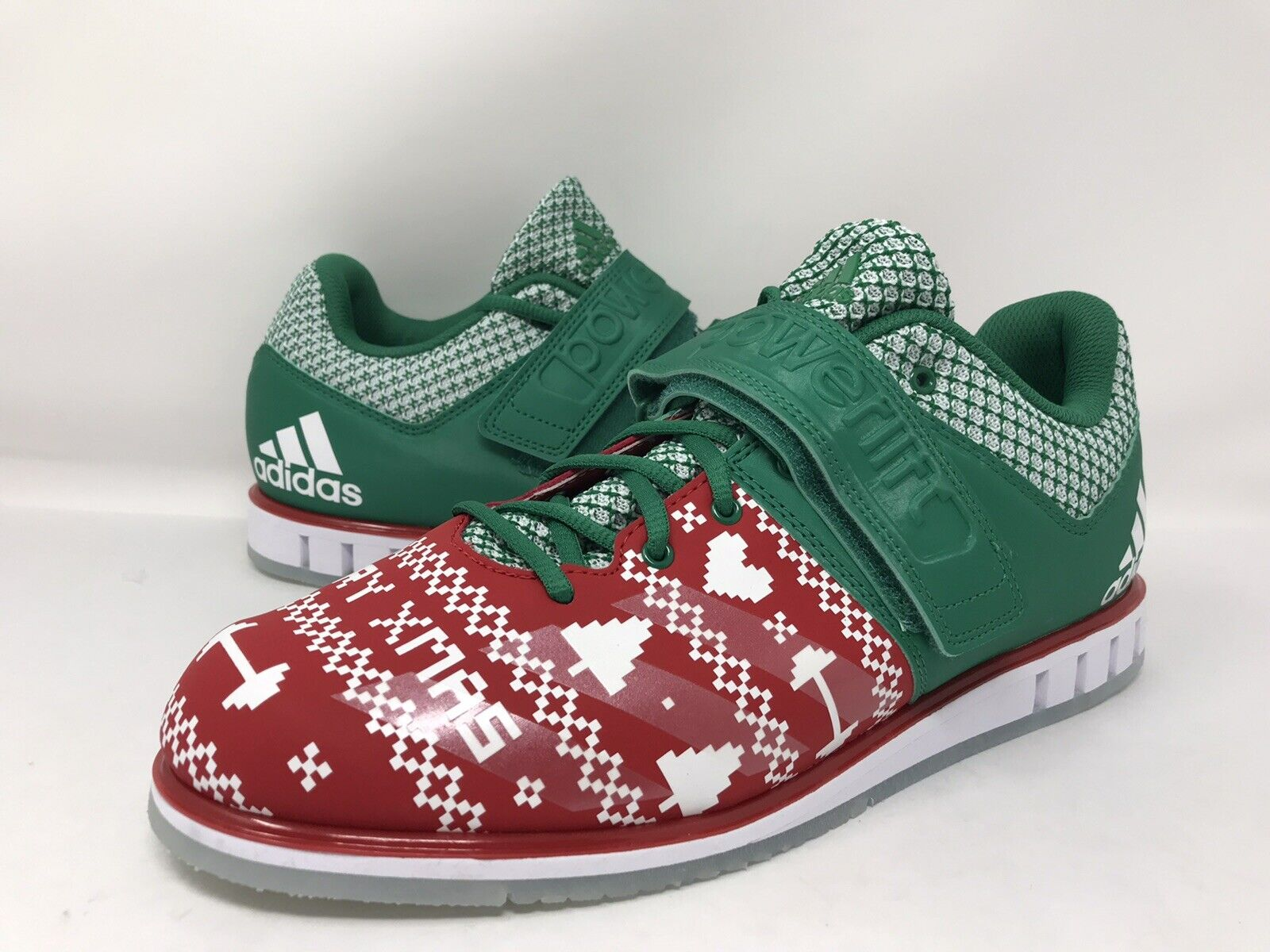 Adidas Powerlift 3.1 Christmas Edition Men Weightlifting Shoes Adidas CG6455 New