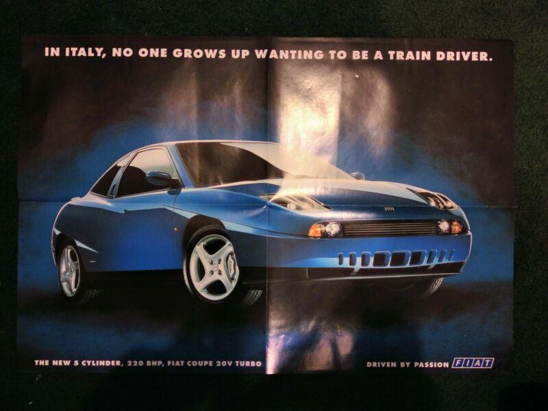 Fiat Coupé 20v Turbo Poster - original from 1996