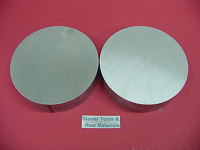 2 Pieces 8 Aluminum 6061 Round Rod 1.5 Long T6511 Solid Lathe Bar Stock