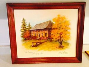 Vintage 1983 Original Painting By Joan E. Anderson
