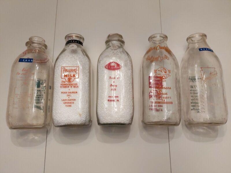 Vintage Milk Bottle lot