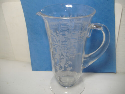 Fostoria June #5000 Clear Pitcher Elegant 1920