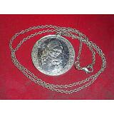 "Vintage 1974 Sterling MOTHER'S DAY Pendant+New 18""Silver 925 Chain Link Necklace"