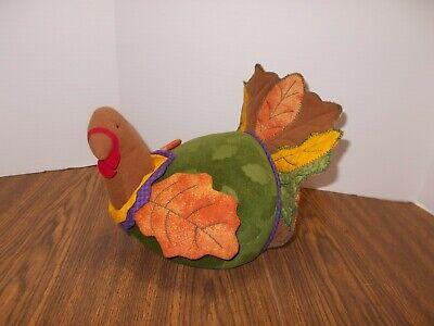 Hallmark Thanksgiving Stuffed Plush Turkey Table Centerpiece Fall Decor