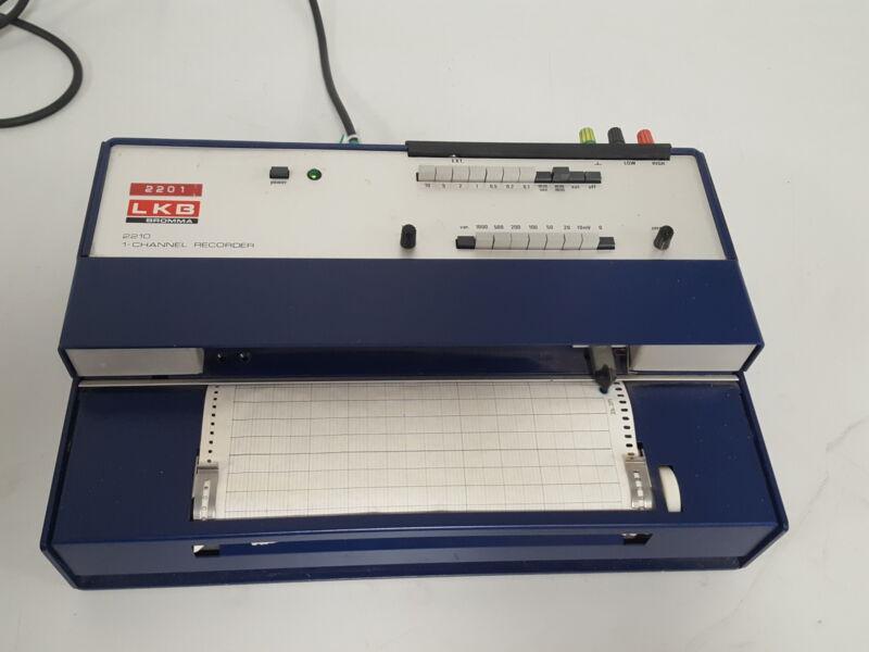 LKB Bromma 2210 1-Channel Recorder Chromatography Equipment Lab