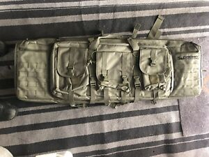 Soft sided rifle shotgun case backpack