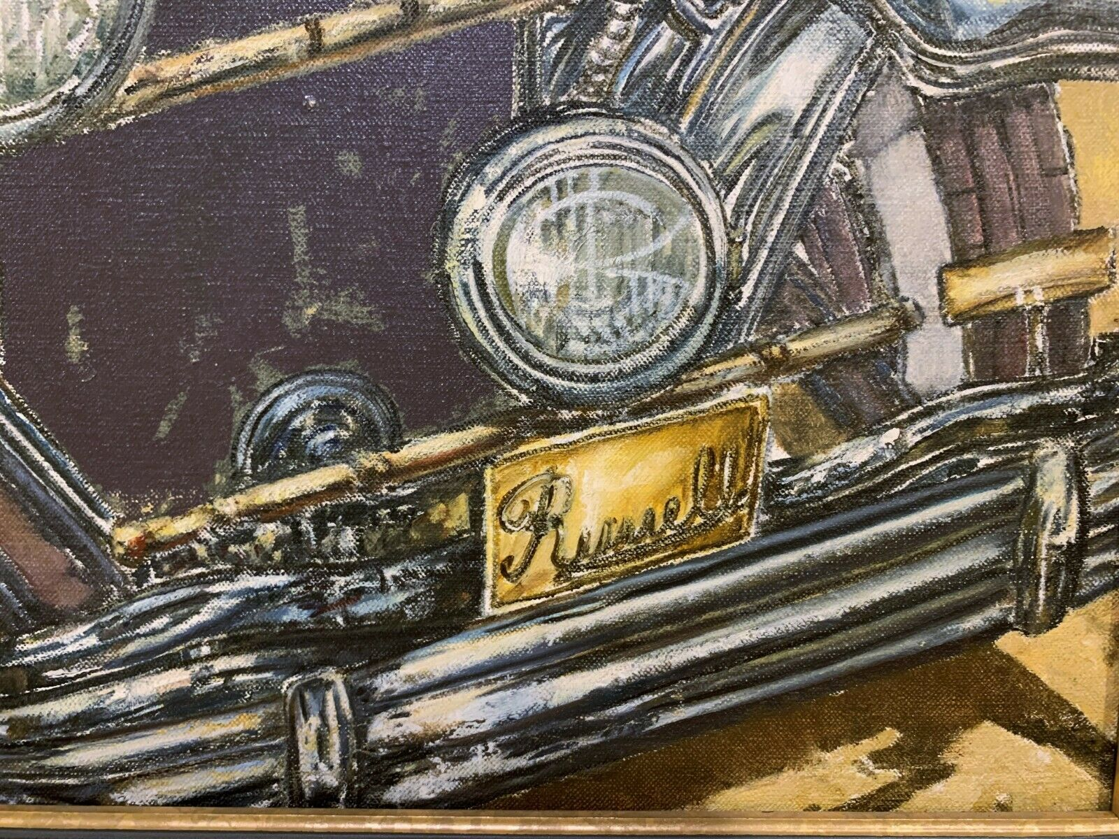 CONTEMPORARY PAINTING Of A CLASSIC CAR AUTOMOBILE 1920s 1930s - $395.00