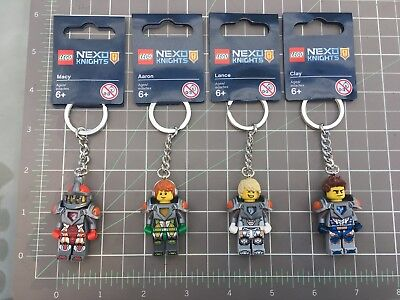4 New Lego Minifigure Key Chain Nexo Knights set 853521853522853524853520 lot