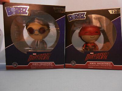 FUNKO VINYL SUGAR DORBZ DAREDEVIL  Red Suit Daredevil #124  & Matt Murdoch #126