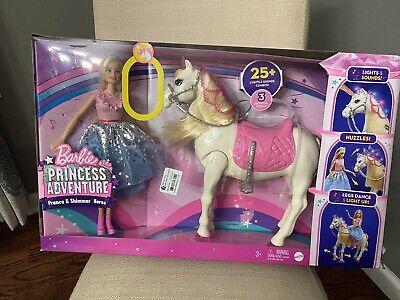 Barbie Princess Adventure Prance & Shimmer Horse Lights/ Sounds Dancing Gift Set