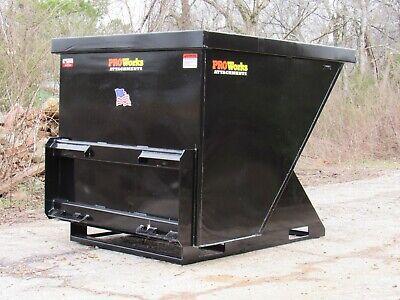 2 Cubic Yard Trash Hopper Dumpster Attachment Fits Skid Steer Quick Attach
