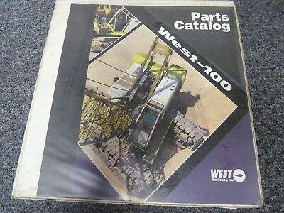 West Manitowoc Model West-100 Crawler Crane Parts Catalog Manual Book