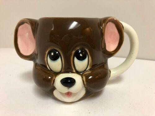 Vintage 1981 Gorham JERRY Ceramic Mug Cat & Mouse Cartoon MGM