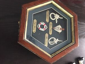 Sailing Knot Shadowbox Nautical Hexagon Shape.