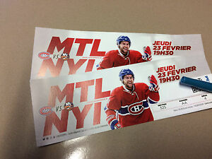 2 Habs tickets for feb. 23rd