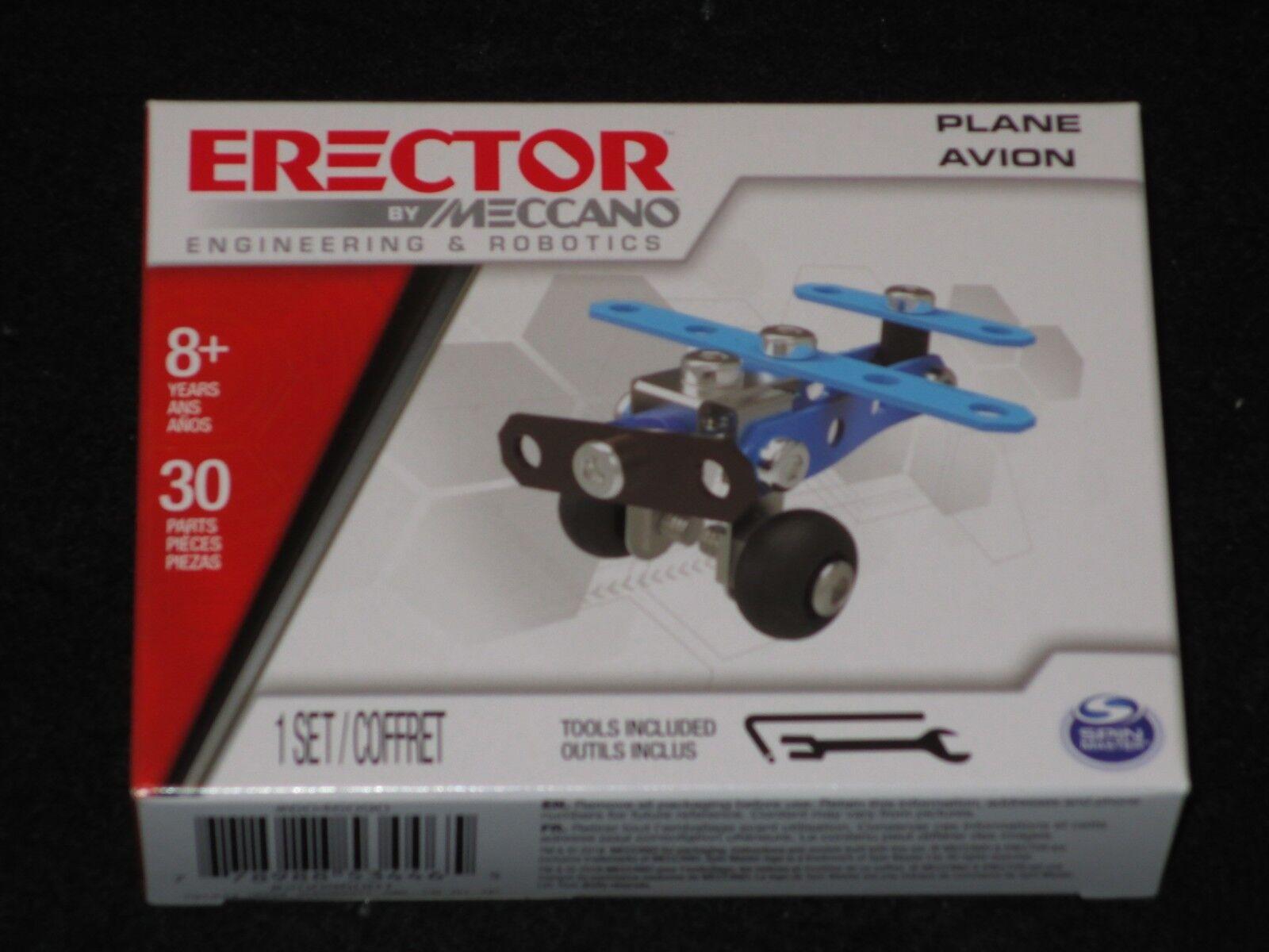 Erector by, Meccano - BLUE PLANE Metal Model Building Kit Bo