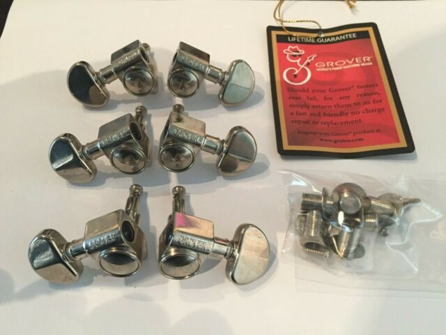Gibson Original Grover 102N Nickel Rotomatic 3x3 Tuners - Lightly Aged Finish