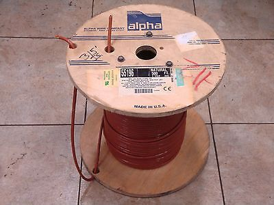 55196 Alpha Wire Shielded Cable 226 6c 22awg 6 Conductor 300v 315 Natural Nos