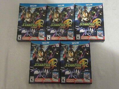 Nintendo Wii U Star Fox Zero with StarFox Guard Video Game Lot of 5