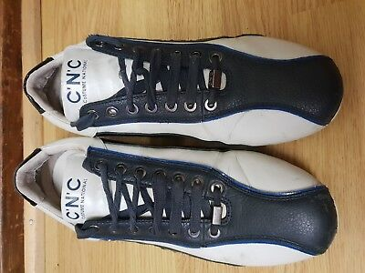 C.N.C. COSTUME NATIONALE MEN BLUE/WHITE LEATHER SIZE UK 9 EU 43MADE IN INDONESIA