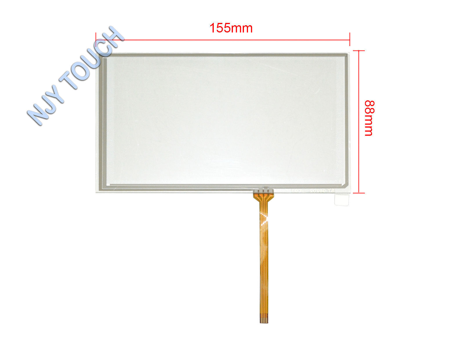 """6.2"""" 4 Wire Resistive Touch Screen Digitizer 155x88mm For HSD062IDW1 TFT Screen"""