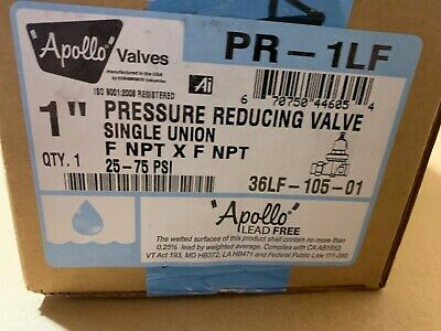 Apollo 1 Water Pressure Reducing Valve 36lf10501 Brand New