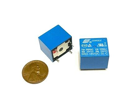 2 Pieces 10a 5 Pins Songle Srd Pcb Power Relay Srd-48vdc-sl-c C42