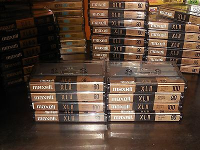Lot of 8 Maxell XLII 60-90-100 High Bias Type II Audio Cassettes Used Condition
