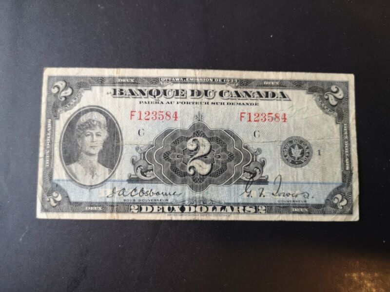 2$ 1935 Bill French Canada Rare