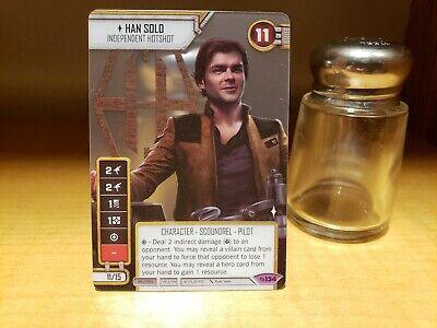 Star Wars Destiny Spot Gloss Han Solo Alt Art Promo Card - GQ Galactic Qualifier