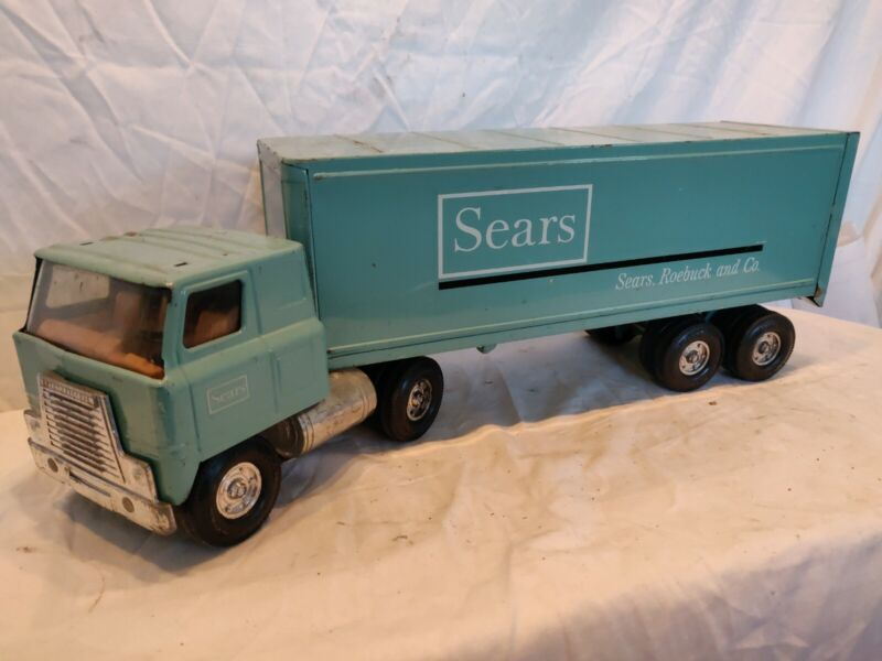 Vintage ERTL Sears Roebuck And Company Metal Semi Truck 22 In