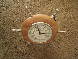 DREXEL HERITAGE 49 Bond Street London Desk Clock Nautical Wheel Porthole-NWT