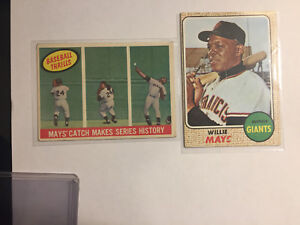 Willie Mays Topps #50 &464 Mays catch