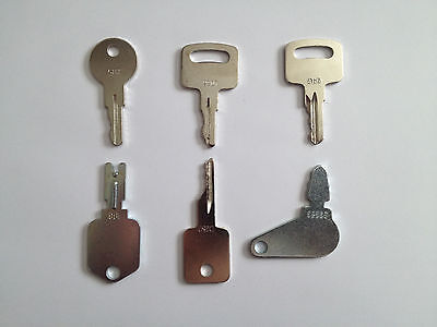 Set Of 6 Jlg Case Bobcat Ingersol-rand Ir Linkbelt Jcb Terex Equipment Keys