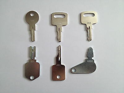 Set Of 6 Jlg Case Bobcat Ingersol-rand Ir Linkbelt Jcb Terex Equipment Keys