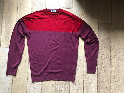 John Smedley Red / Maroon Merino Wool Sweater - Medium