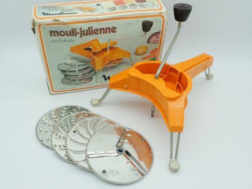 Vintage MOULINEX Mouli-Julienne Slicer Shredder Grater Discs France No. 445
