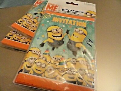 New 24 DESPICABLE ME Birthday invitations MINIONS Fun Look Great Buy  Rings