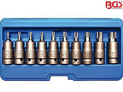 """BGS 5097 8-tlg Satz 1/2"""" Kraft Druckluft Bit-Einsatz Torx Schlagschrauber Nuss"""