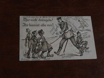 ORIGINAL GERMAN MILITARY PROPAGANDA POLITICAL POSTCARD - DRANGELN!